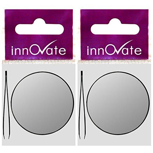 innover sourcils cils Loupe Zoom Close Up Miroir de maquillage + Pince à épiler (lot de 2)