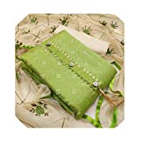 KrishnaEnterprise Women's French Crepe Cotton Unstitched Embroidery Dress Material with Dupatta (Cream and Green, Free Size)