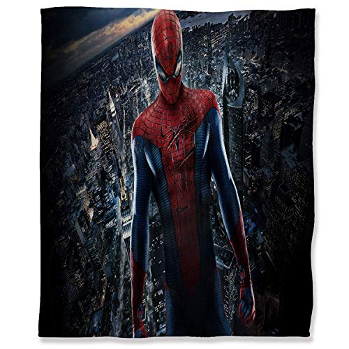 Hinyast kids weighted blanket toddler blanket Ultra Soft Throw Blankets 50' x 60', Spiderman Bedroom Warm Blanket for Couch, 3D Movie Spider Man Superhero