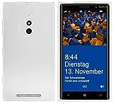 mumbi Hülle kompatibel mit Nokia Lumia 830 Handy Hülle Handyhülle, transparent weiss