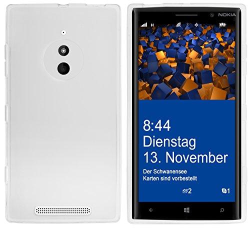mumbi Hülle kompatibel mit Nokia Lumia 830 Handy Case Handyhülle, transparent Weiss