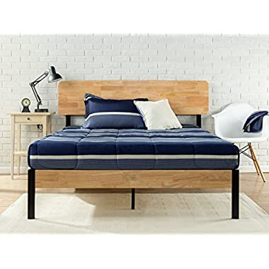 Zinus Tuscan Metal & Wood Platform Bed with Wood Slat Support, King