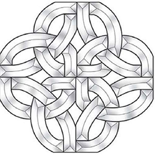 Stained Glass Supplies - Bevel Cluster Celtic 12 inch 824EC