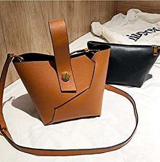 Adebie - Vintage Fashion Female Tote Bucket Bag 2019 New Quality PU Leather Women's Designer Handbag Alligator Shoulder Messenger Bag 26 X 15 X 18 cm Brown []
