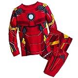 Marvel Iron Man Costume PJ Pals Pajamas Set for Boys, Red, 6