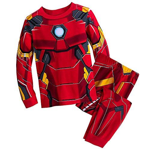 Marvel Iron Man Costume PJ PALS Pajamas Set for Boys, Red, 5