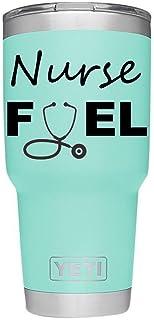 ملصق حمام الوقود SixtyTwo24 Nurse Fuel Tumbler مقاس 5 بوصات {أسود}- البهلوان غير متضمن، ممرضة مسجلة، RN، R.N، LPN، ممارسي ...