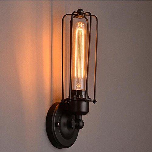 Modern LED Wandleuchte Vintage Retro Café Loft Bar Flurlampe, Wandlampe. Eisen/Kunst/Wandlampe/antik/Schlafzimmer/Gang/Treppen/Bett/Retro/Eisengestell/Doppelkopf/Wandleuchte, A