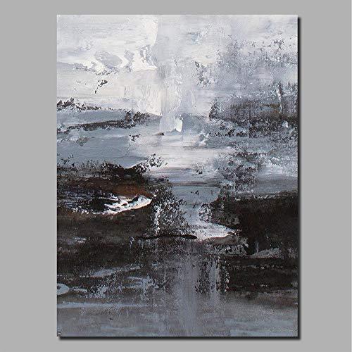 """HIMAmonkey 100% Pintura Al óLeo Pintado A Mano Cuadros Abstractos Modernos Arte de Pared sobre Lienzo Estirada y Enmarcado decoración Listo para Colgar,32""""*48""""(80 * 120cm)"""