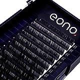 Eono by Amazon - Estensione Ciglia Naturalmente Artificiali finto Ciglia singole morbide Cilia per professionisti (12 mm C-0.07)