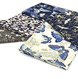 Juego de 5 telas de diseño japonés para costura, acolchado, patchwork, manualidades (50 x 74 cm)
