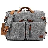CoolBELL Convertible Backpack Messenger Bag Shoulder bag Laptop Case Handbag Business Briefcase Multi-functional Travel Rucksack Fits 17.3 Inch Laptop For Men / Women (Grey) [並行輸入品]