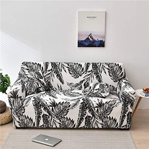 PPMP Funda de sofá elástica Floral Fundas de sofá para Sala de Estar Protector de Muebles de poliéster Fundas Funda de sofá A6 2 plazas