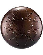 Tambor de Lengua de Acero Lengua Mano del Tambor Instrumentos de percusión del Tambor de Acero con mazos de Tambor for la meditación Yoga fácil de Jugar para la Meditación Personal