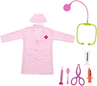 Toyvian Kids Nurse Costume Role Play Costume Dress Up Set With Doctor Medical Kit Taille 3XL