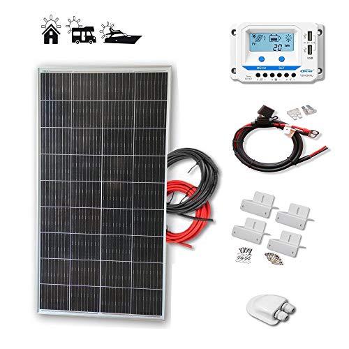 Kit 150W ECO 12V panel solar placa monocristalina células PERC de alta eficiencia