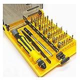 HCHL Set de Destornillador de Mini precisión, 45 en 1 Kit de Destornillador Torx, reparación de electrodomésticos, como Ordenador Personal Y teléfonos móviles