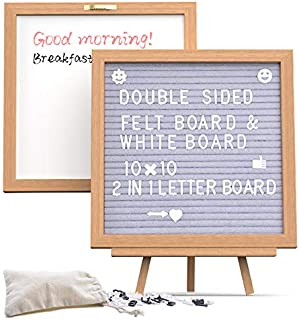 Letter Board with Letters and Stand, MDrebel Double Sided Changeable Felt Letter Board 10