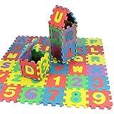 36 piezas de rompecabezas digital de alfabeto para niños pequeños, juguetes educativos de 3 a 8, rompecabezas de suelo para niños que incluyen 0-9 digitales, alfabeto de la A a la Z