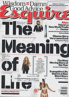 Esquire Magazine (January/February, 2015) The Meaning of Life