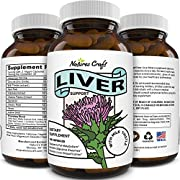 Best Liver Supplements with Milk Thistle - Artichoke - Dandelion Root Support Healthy Liver Function for Men and Women Natural Detox Cleanse Capsules Boost Immune System Relief (90 CT)