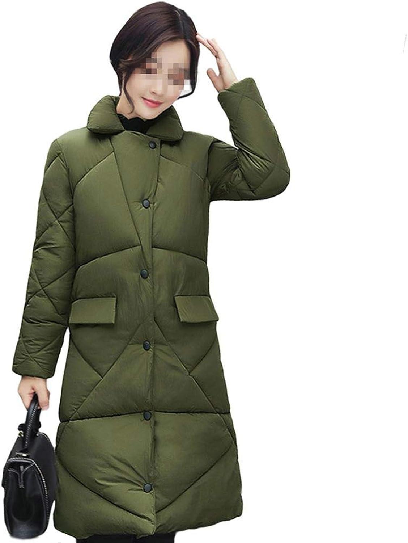 Dotoo Winter Ladies Fashion Temperament Elegant Slim Long Cotton Clothing