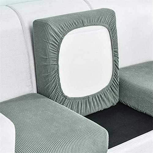 CENPENYA Funda de cojín elástica para sofá, fundas de asiento de licra jacquard, fundas de cojín de sofá ajustadas, durables y gruesas, con parte inferior elástica (1 plaza, verde Matcha)