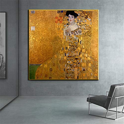 ganlanshu Porträts berühmter Gemälde auf Leinwand, Wandkunstplakate, Heimdekoration,Rahmenlose Malerei,70x70cm