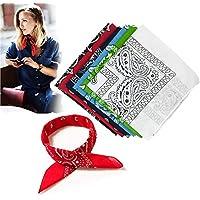Ealicere Pack 6 Pañuelos Bandanas de Modelo de Cuello/Cabeza Multicolor Múltiple Algodón para Mujer y Hombre Niños 52×52cm