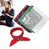 Ealicere 6 Stück Bandana Kopftuch Halstuch Cashew Muster für Damen20.5 * 20.5inch