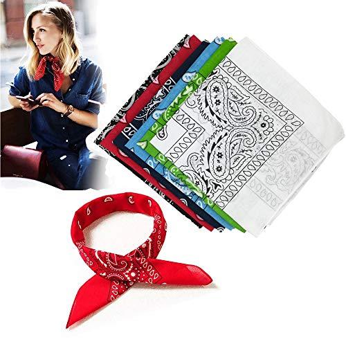 Ealicere Pack 6 Pañuelos Bandanas de Modelo de Cuello/Cabeza Multicolor Múltiple para Mujer y Hombre Niños 52×52cm