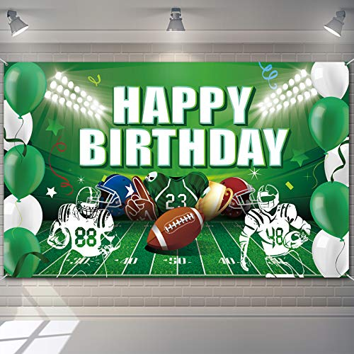 Football Birthday Party Backdrop Decorations Football Birthday Banner Super Football Bowl Game Day Sports Fan Supplies Football Themed Boy Birthday Party Favors Photo Booth Props Wall Hanging