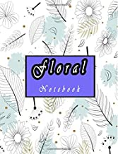 Floral Notebook: White Flower in hand drawn style