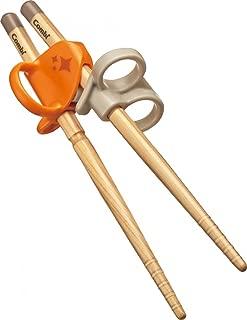 Combi 康贝婴儿用筷子 初学者筷子 实木筷子  橙色 左手用