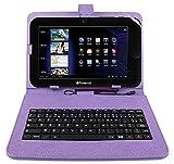 DURAGADGET Etui violet aspect cuir + clavier intégré AZERTY (français) pour Essentielb...