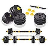 Dumbellsweights Set, 20KG Weights Dumbbell Set with Link Adjustable Weight Training Set Suitable for Various Training Methods