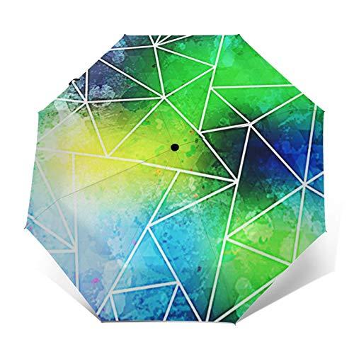 Parapluie Pliant, Parapluie Pliable Automatique Ouverture Et Fermeture Résistant à Tempête Compact Léger Parapluie De Voyage pour Homme Et Femme Effet Grunge de Mode Triangle