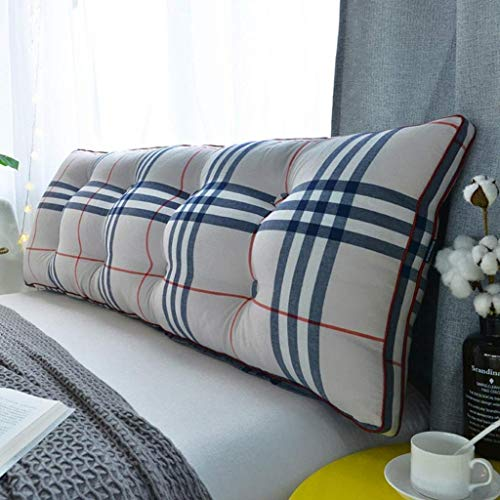 QYSZYG Cojín de lectura 100% algodón, cojín extraíble suave rollo cojín para Tatami – Cojín largo mesita de noche, respaldo grande (color: N, tamaño: 100 x 20 x 50 cm)