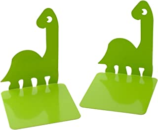 1Pair Prehistoric Dinosaurs Noskid Bookends Books Gift Green
