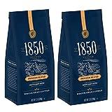 1850 Pioneer Blend, Medium Roast Coffee, Whole Bean, 12 Ounces (Pack of 2)