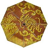 Automatisches Regenschirm-Gewebe-Zeichnungs-Muster-Reise-herkömmliches winddichtes wasserdichtes faltendes Auto-Öffnen-Schließen