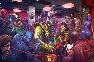 Prague Courtney X-Men Comics Loki Thanos The Mandarin Bucky Barnes Magneto Red Skullation 24X36 Inch
