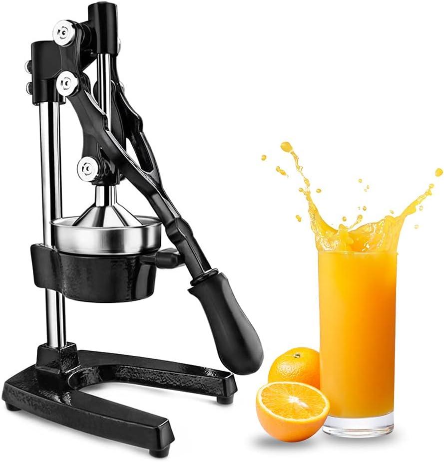 Senfhome Manual Citrus Press Juicer Lemon Lime Juicer Squeezer Commercial Citrus Juicer Manual Fruit Juicer and Orange Squeezer Metal Hand Press Juice, Heavy Duty Citrus Press Orange Crusher