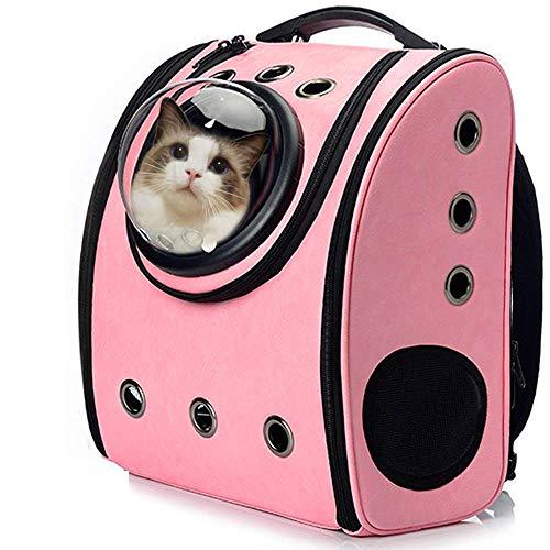 LONG-A La Bolsa De La Cápsula Que Lleva El Gato Mascota Transpirable Al Aire Libre Bolsa De Embalaje Portátil Mascotas Cachorro Mochila De Viaje para El Portador De Perros,Rosado