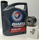 Total Pack Lubricante Motor Quartz 7000 Energy 10W-40 5 litros+ Filtro Aceite Original...