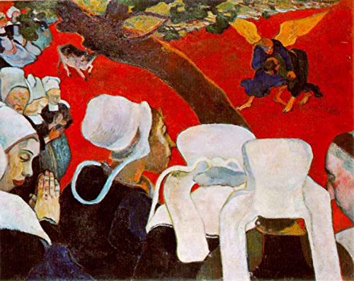 Vision After the Sermon, Jacob Wrestling with the Angel by Paul Gauguin - 20