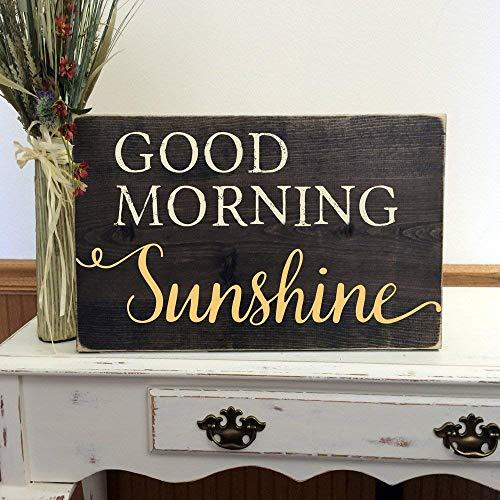 Jerome George Good Morning Sunshine Wood Sign, Sunshine Nursery, Sunshine Decor, You are My Sunshine