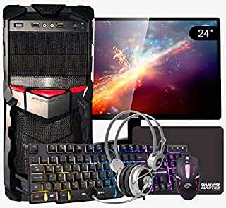 "PC Gamer Completo Intel Core i7 4ª Geração, 16GB RAM DDR3, HD SSD 480GB, RX 550 4GB, Monitor 24"", WiFi, Headset, Teclado e..."