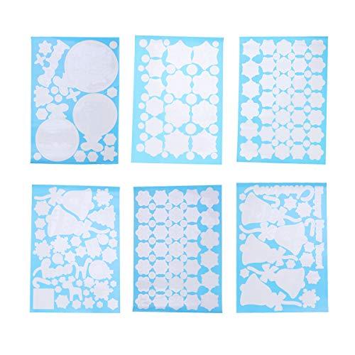 YeahiBaby 6pcs Weihnachten Fenster klemmt Aufkleber Wand Aufkleber Schaufenster Weihnachten Urlaub Winter Dekorationen Ornamente Party Supplies