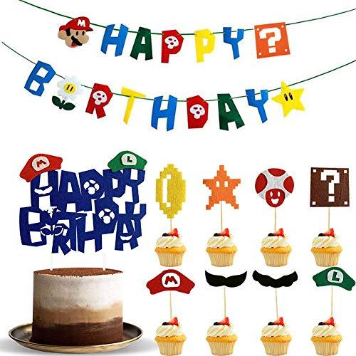 Cake Topper Happy Birthday BETOY 18PCS Cupcake Toppers Buon Compleanno Topper Buon Compleanno Festa Topper Decorativi Decorazioni